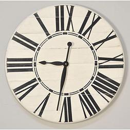 "BrandtWorks Riley Oversized Farmhouse 36"" Wall Clock, 36 x 3"