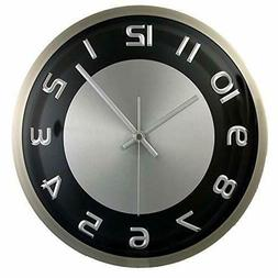 "Timekeeper Products LLC, 300RAB, Round 11.5"" Clock Metal Sil"