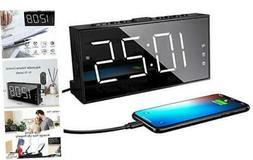 Loud LED Digital Alarm Clocks for Bedrooms Bedside with Snoo