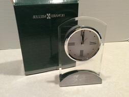 Howard Miller lucite mantle/desk clock,  new in box