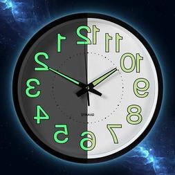 Luminous Silent Wall Clocks For Bedroom Quartz
