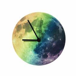 Luxury Luminous 3D Moon Wall Clock Glow in the Dark Clock Wa