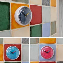 Macaron Waterproof Vivid Clock for Bathroom Kitchen Shower S