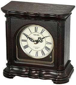 Seiko 'MANTEL-MUSICAL' Wood Shelf Clock, Color:Brown