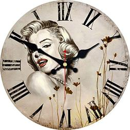 MEISTAR Marilyn Monroe Battery-Powered Wall Clock Frameless