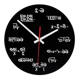 Math Clock, Timelike Unique Wall Clock Modern Design Novelty