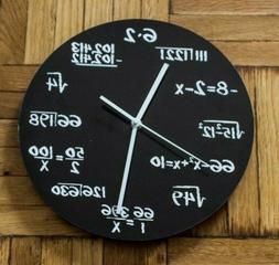 Decodyne Math Wall Clock - Unique Math Equations Perfect for