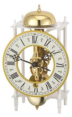 Hermle Mechanical Table Clock with Skeleton Movement - White