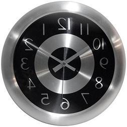 Infinity Instruments Mercury Black 10-Inch Wall Clock