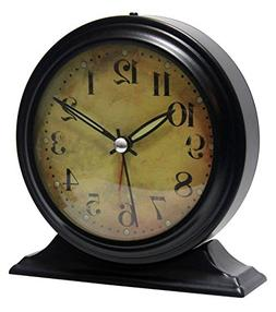 Infinity Instruments Metal Alarm Clock - Antique Look