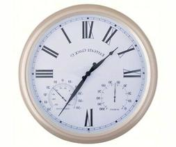 Metal Outdoor Clock with Thermometer and Humidity  Large  15