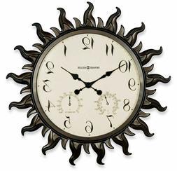 Metal Sun Wall Clock Modern Home Art Decor Large Indoor Outd