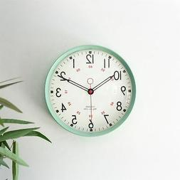 Metal Wall Clock Retro Large Round Home Office Bedroom Kitch