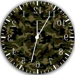 Military Camouflage Frameless Borderless Wall Clock Y52 Nice