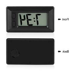Mini Digital LCD Clock Electronic Clock with Time Display Ad