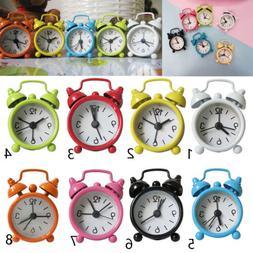 Mini Lovely Analog Twin Bell Alarm Clock For Kid's Bedroom T