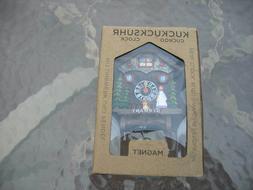miniature cuckoo style wall clock girl dog  magnet back Germ