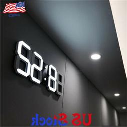 modern 3dled digital three dimensional wall alarm
