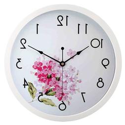 HITO Modern Colorful Floral Silent Non-ticking Wall Clock- 1