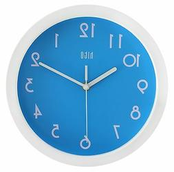 HITO Modern Colorful Silent Non-ticking Wall Clock- 10 Inche