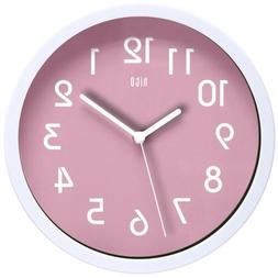 hito Modern Colorful Silent Non-ticking Wall Clock 10 Inches