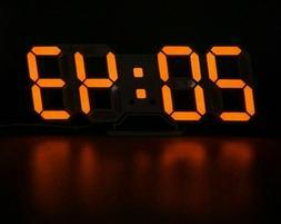 Modern Digital Alarm Clock Displays 3D LED 8mm Brief Wall Cl