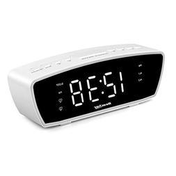 Reacher Modern Dual Alarm Clock Radio with Adjustable Alarm