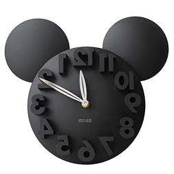Busen Modern Design Mickey Mouse Big Digit 3d Wall Clock Hom
