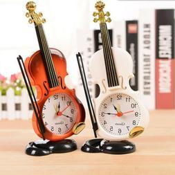 Modern Retro Violin Desk Clock Alarm Clock Stand Clock Home