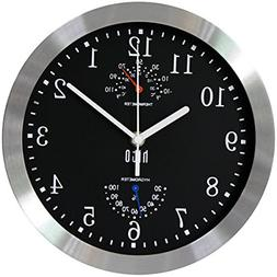 Modern Silent Wall Clock Non Ticking Accurate Silver & Alumi