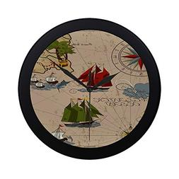 Modern Simple Nautical Vector Illustration With Wind Rose Sh