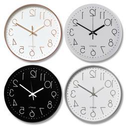 modern wall clock silent non ticking battery