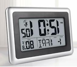 Digital Atomic Desk & Wall Clock With Date Indoor Temperatur