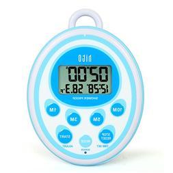 hito Waterproof Shower Clock Timer Alarm Date Indoor Tempera
