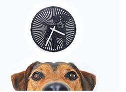 N3 MyPet Rotating Wall Clock - Unique Silent Wall Clock - Wi