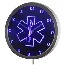 ADVPRO nc0713-b EMS Paramedic Neon Sign LED Wall Clock