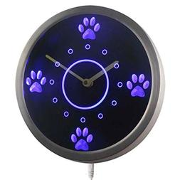 ADVPRO nc0991-b Cute Dog Paws Pet Grooming Neon Sign LED Wal