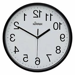 "NEW Hippih 10"" Silent Quartz Decorative Wall Clock Non-ticki"