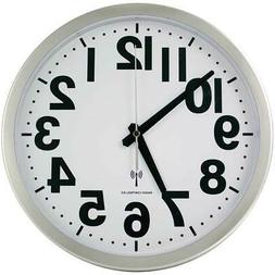 """NEW Atomic Analog Wall Clock w/ 1.5"""" Bold Black Numbers For"""