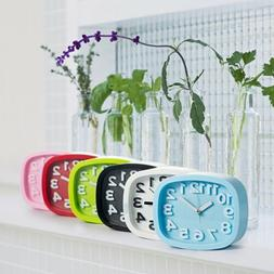 New Candy Color Alarm Clock Battery Silent Home Desk Table S