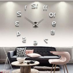 New Clock Watch Wall Clocks Horloge 3d Diy Acrylic Home Deco