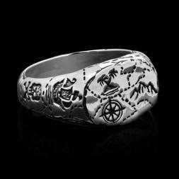 NEW Clocks+Colours CAPE HORN ROLLER Stainless Steel Ring Siz