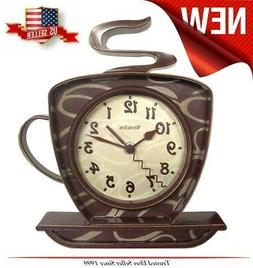 NEW Coffee Mug Cup Wall Clock, Teapot Time keeper Home Kitch