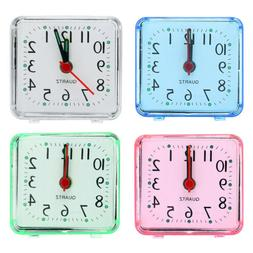 New CUTE Color Alarm Clock Battery Silent Home Desk Table Sn