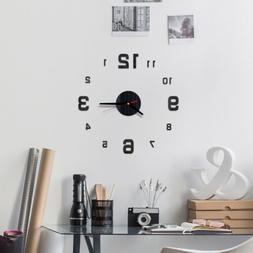 New Fashion Modern DIY Wall Clock 3D Mirror Surface Sticker