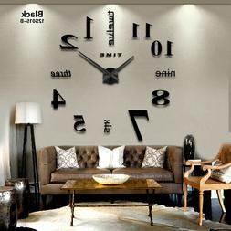 New Home decoration big mirror wall clock modern design 3D D