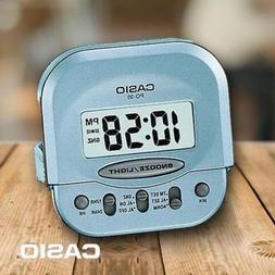 NEW Casio PQ30-2 Blue Teal Compact Digital Beep Alarm Clock