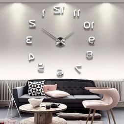 New Real Special Watch Quartz Wall Clocks 3D Acrylic Clock D