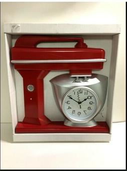 NEW Red Clock Kitchen Mixer Red Clock Numbers In The Bowl