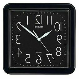 NEW CASIO RESIN BLACK WALL CLOCK IQ-02S-1D EASY TO READ WHIT